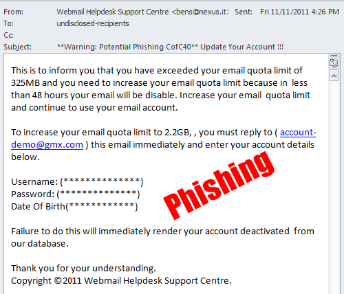 example of a phishing e-mail
